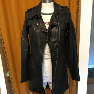 NWT DOMA full extension leather jacket